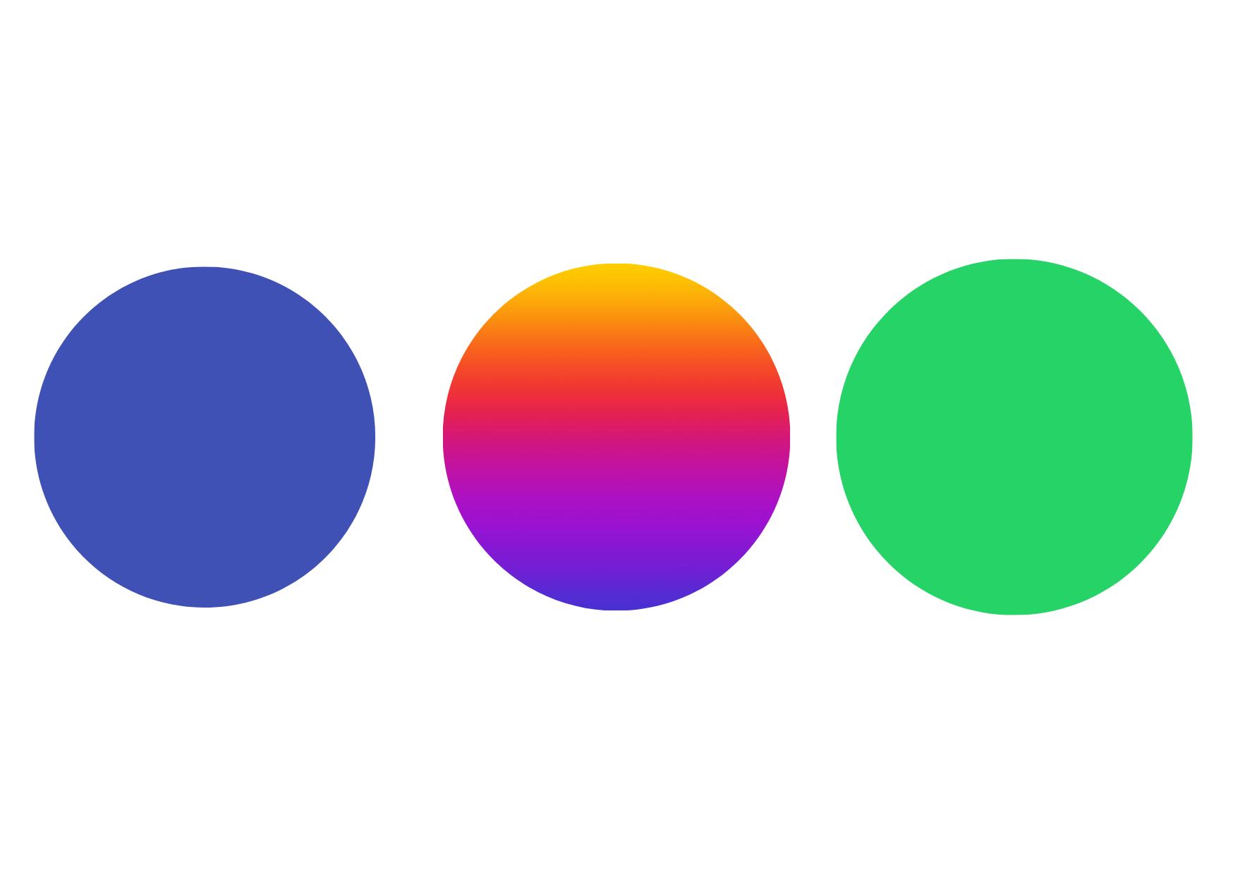 cores de branding dos aplicativos do grupo Facebook